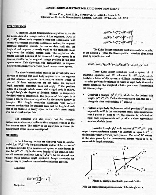 Length Normalization for Rigid Body Movement - The segment