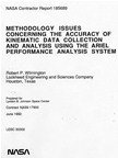 Methodology Issues concerning the Accuracy of Kinematic Data