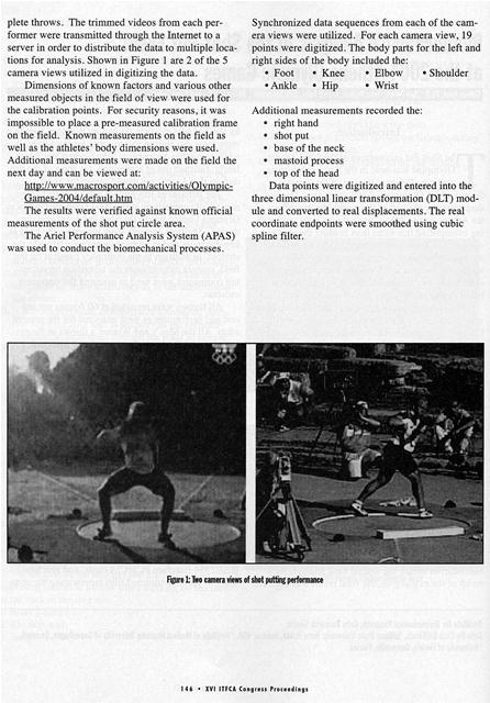 biomechanical analysis of shot put and discus The throwing page includes videos, articles and training tips for the shot put, discus throw, hammer throw and javelin throw teaching progression for the discus bowling.