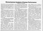 Computerized Biomechanical Analysis of Human Performance