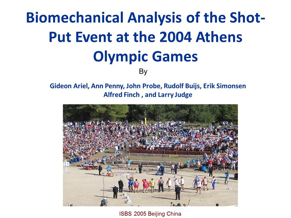 biomechanical analysis of shot put and discus Biomechanical analysis of top discus throwers performance in egypt raafat  abd el monsef  the technique of the discus throwing consists of the  preliminary.