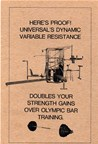 The first concept of Variable Resistance Exercise Machines introduced by Dr. Gideon Ariel