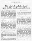 """Anabolic Steroids use has been extended by """"power event"""" athletes who have attempted to develop increased muscular contractile force"""